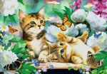Load image into Gallery viewer, Butterflies, Flowers and Cats DIY Diamond Painting Kit