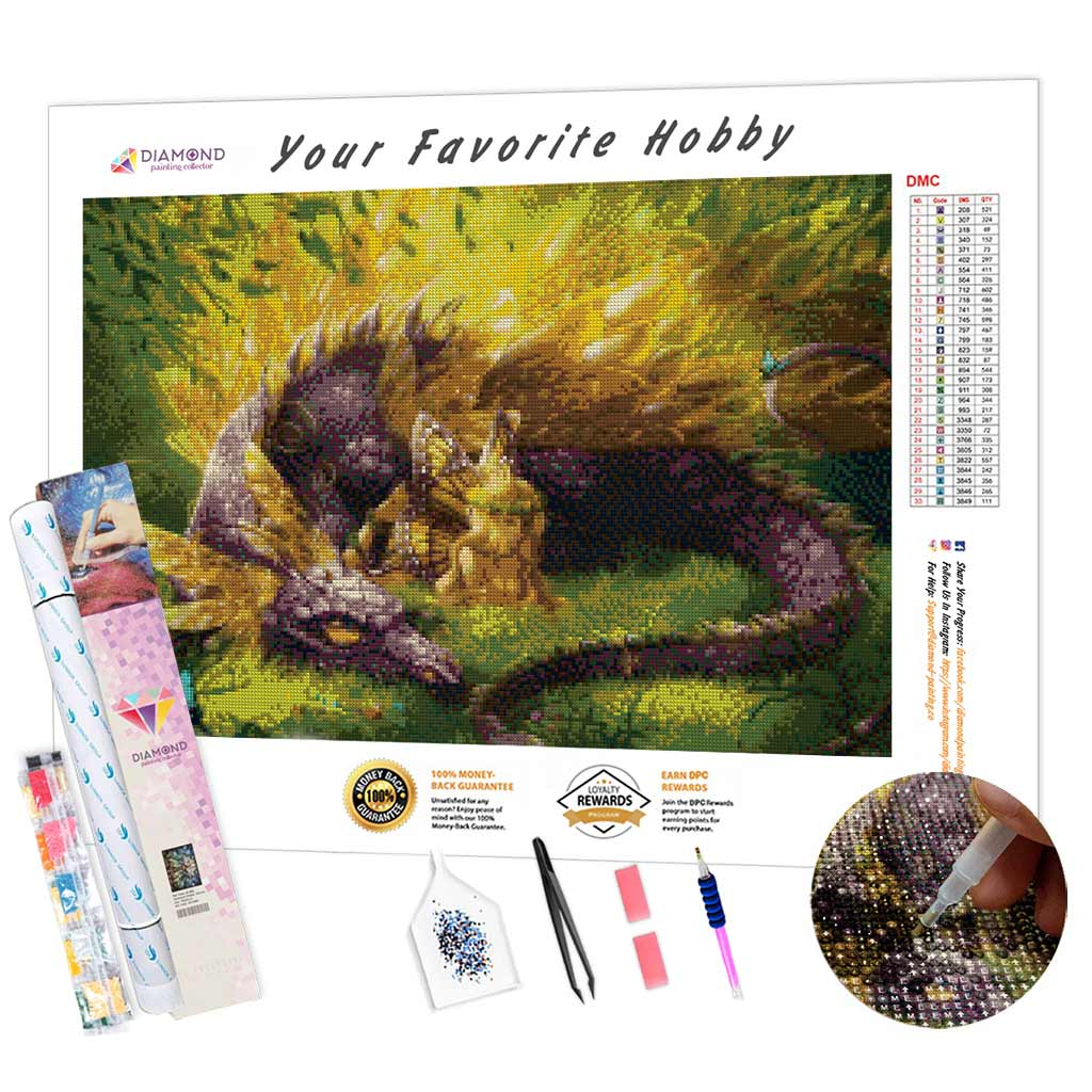 Butterfly Dragon Fairy DIY Diamond Painting Kit