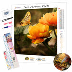 Load image into Gallery viewer, Butterfly Flies to a Flower DIY Diamond Painting Kit