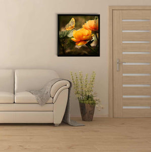 Butterfly Flies to a Flower DIY Diamond Painting Kit