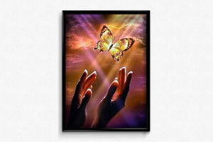 Butterfly Flies to the Light DIY Diamond Painting Kit