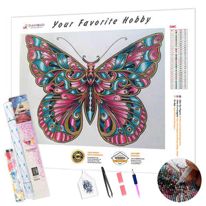 Butterfly in Burgundy DIY Diamond Painting Kit