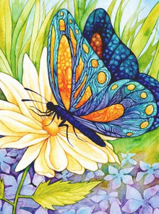 Butterfly on a Yellow Flower DIY Diamond Painting Kit