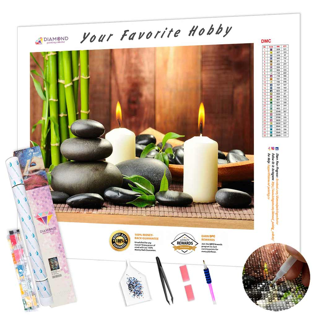 Candles and Bamboo DIY Diamond Painting Kit
