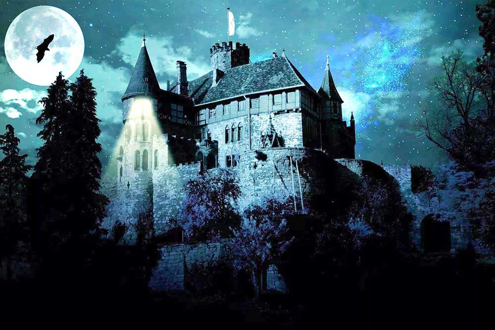 Castle in the Moonlight DIY Diamond Painting Kit