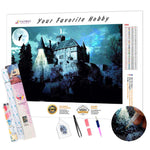 Load image into Gallery viewer, Castle in the Moonlight DIY Diamond Painting Kit