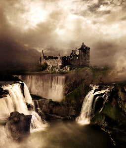 Castle of the Three Waterfalls DIY Diamond Painting Kit
