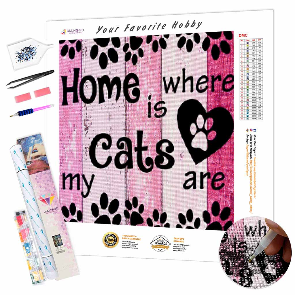 Cats Home DIY Diamond Painting Kit