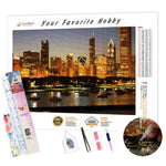 Load image into Gallery viewer, Chicago Skyscrapers DIY Diamond Painting Kit