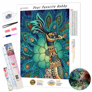 Classic Chinese style Peacock DIY Diamond Painting Kit