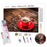 Load image into Gallery viewer, Coffee Beans DIY Diamond Painting Kit