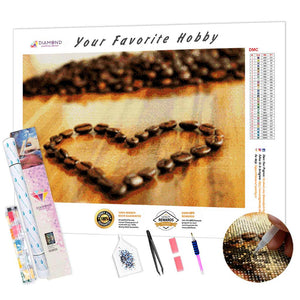 Coffee Heart DIY Diamond Painting Kit
