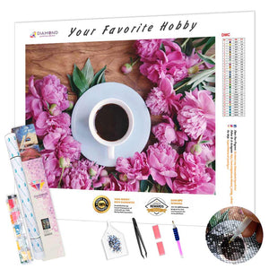 Coffee at the Flower Shop DIY Diamond Painting Kit