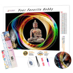Load image into Gallery viewer, Color outline Buddha DIY Diamond Painting Kit