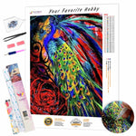 Load image into Gallery viewer, Colorful Peacock DIY Diamond Painting Kit