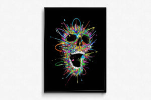 Colorful Skull DIY Diamond Painting Kit