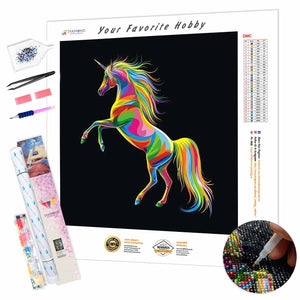 Colorful Unicorn DIY Diamond Painting Kit