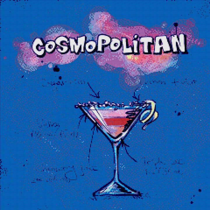 Cosmopolitan Cocktail DIY Diamond Painting Kit