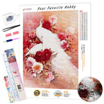 Load image into Gallery viewer, Crystal White Peacock DIY Diamond Painting Kit