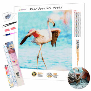 Dance Flamingo DIY Diamond Painting Kit