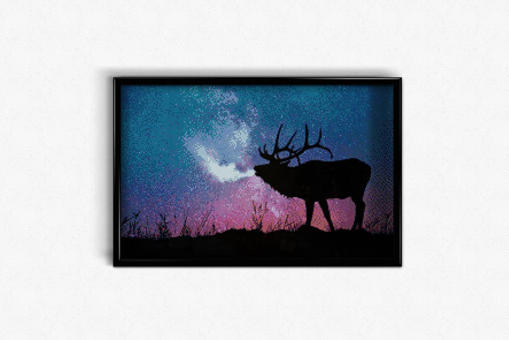 Deer on a starry night DIY Diamond Painting Kit
