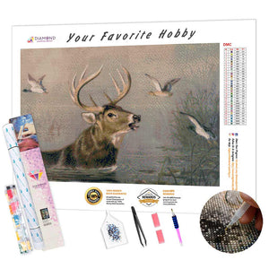 Deer and Ducks DIY Diamond Painting Kit