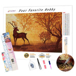 Load image into Gallery viewer, Deer in the Autumn Forest DIY Diamond Painting Kit