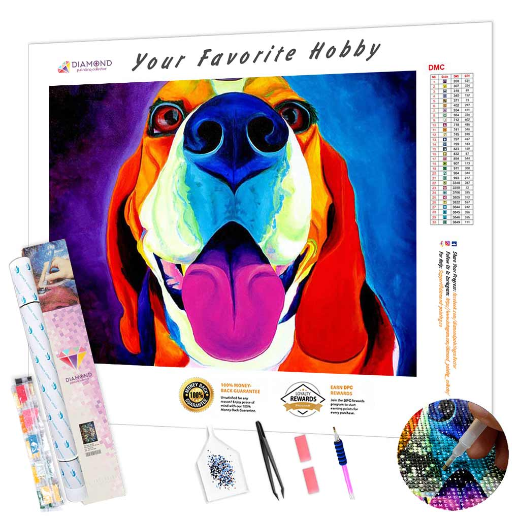 Dog Awaiting Command DIY Diamond Painting Kit