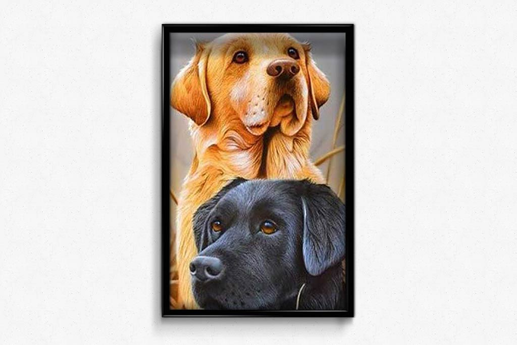 Dogs on the Hunt DIY Diamond Painting Kit