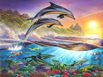 Load image into Gallery viewer, Dolphin Games DIY Diamond Painting Kit
