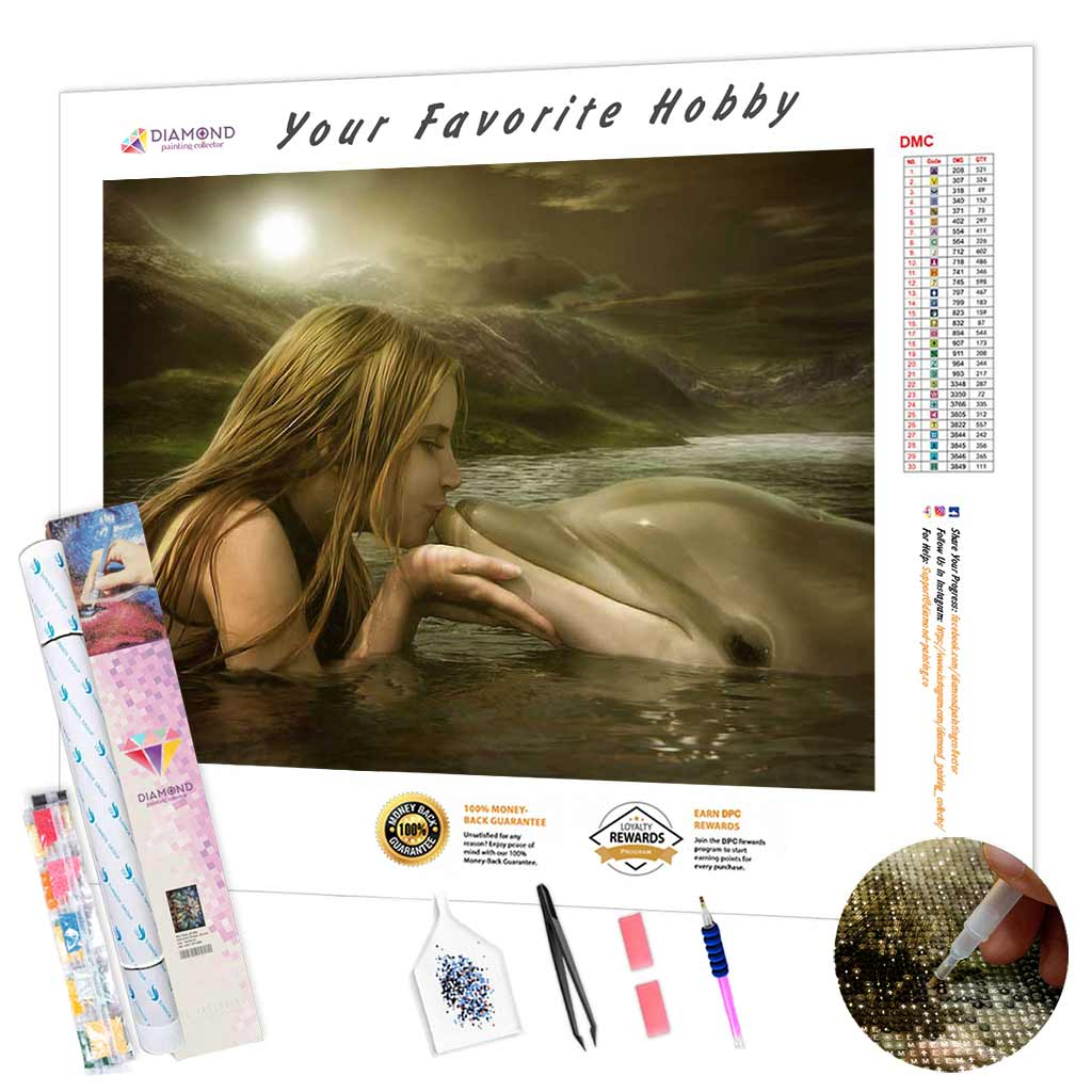 Dolphin Kiss DIY Diamond Painting Kit
