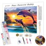 Load image into Gallery viewer, Dolphin Jump DIY Diamond Painting Kit