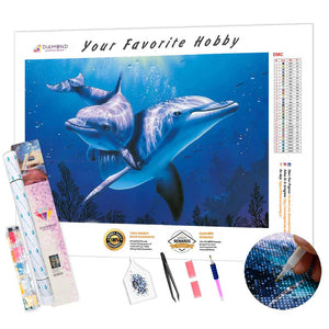 Dolphins Tenderness DIY Diamond Painting Kit