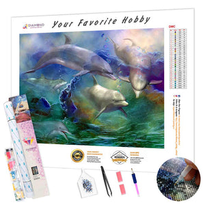 Dolphins in the Ocean DIY Diamond Painting Kit