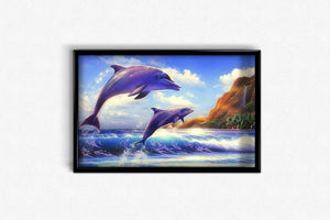 Dolphins on the Wave DIY Diamond Painting Kit