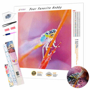 Dragonfly on a Branch DIY Diamond Painting Kit