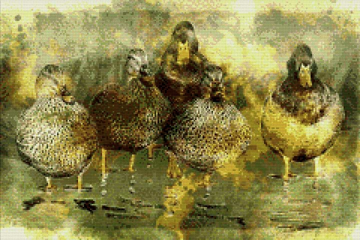 Duck Family DIY Diamond Painting Kit