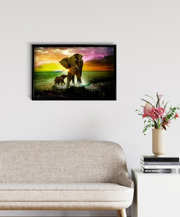 Elephants at Sunset DIY Diamond Painting Kit