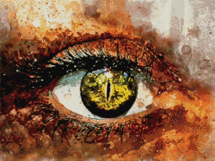 Eye Reptiles DIY Diamond Painting Kit