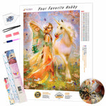 Load image into Gallery viewer, Fairy with a Unicorn DIY Diamond Painting Kit