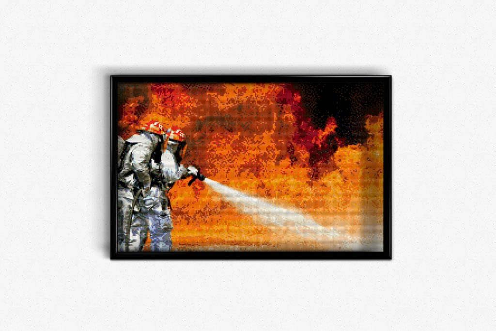 Fighting Fire DIY Diamond Painting Kit