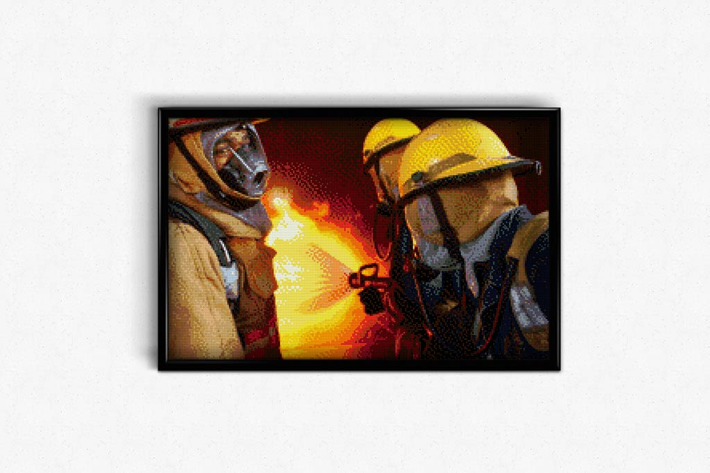 Firefighter Training DIY Diamond Painting Kit