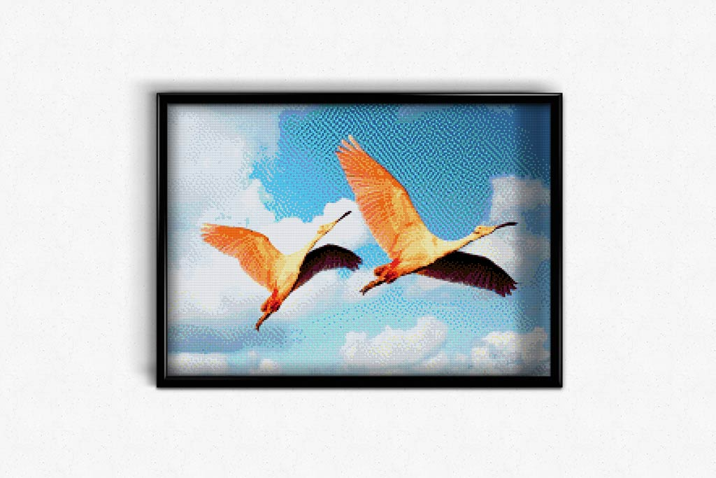 Flamingo in Flight DIY Diamond Painting Kit