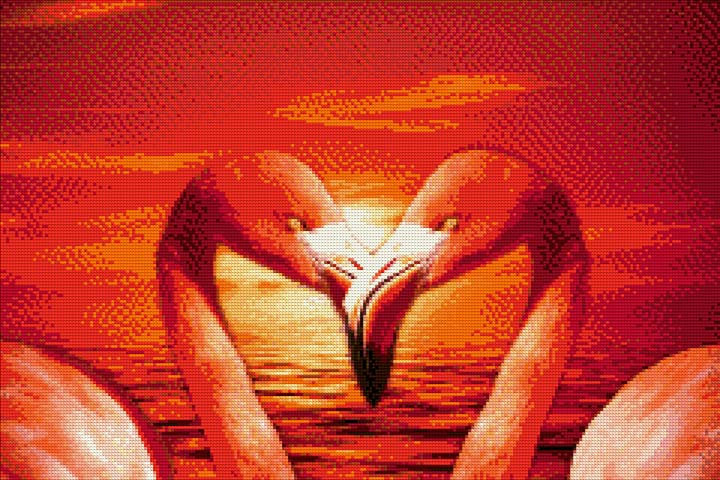 Flamingos at Sunset DIY Diamond Painting Kit