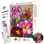Load image into Gallery viewer, Flower Butterfly DIY Diamond Painting Kit