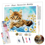 Load image into Gallery viewer, Flowers and Cat DIY Diamond Painting Kit