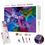 Load image into Gallery viewer, Fractal Butterfly DIY Diamond Painting Kit