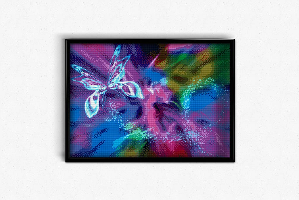 Fractal Butterfly DIY Diamond Painting Kit