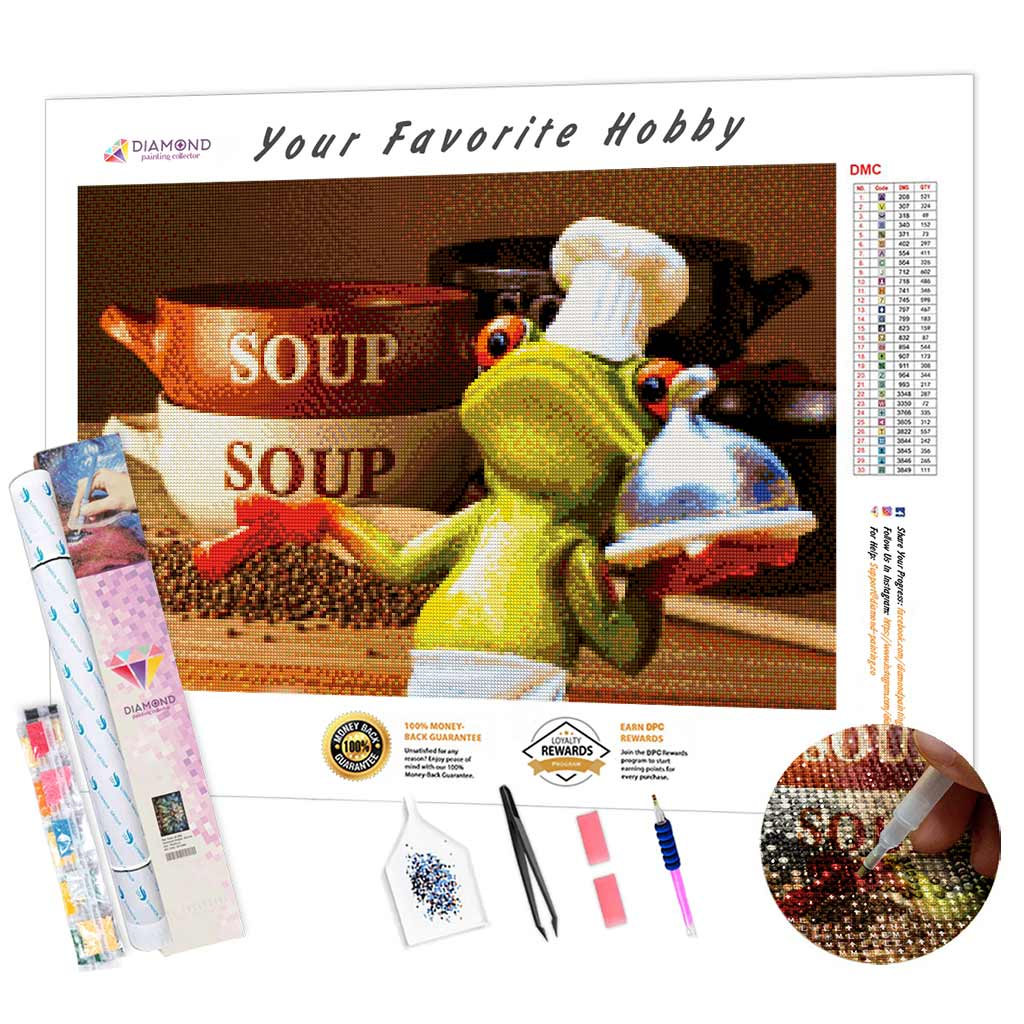 Frog Cook DIY Diamond Painting Kit