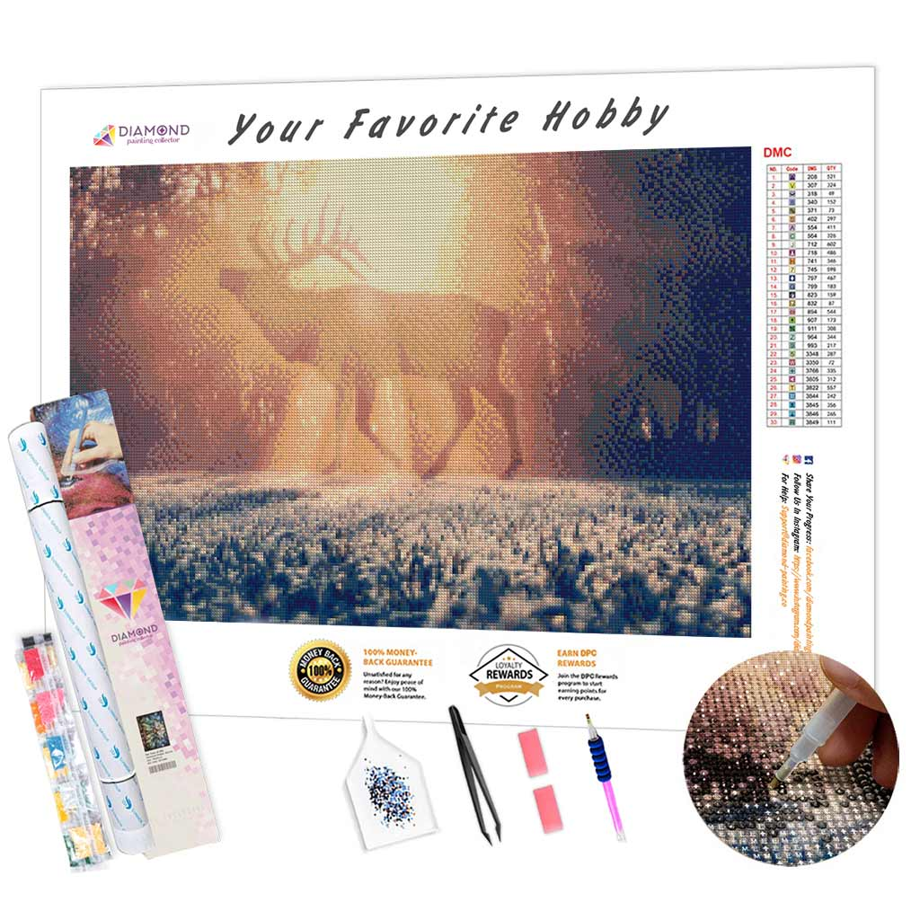 Frosty Deer Morning DIY Diamond Painting Kit